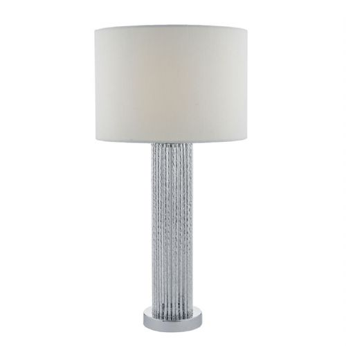 Lazio Table Lamp Silver Rods complete with Shade
